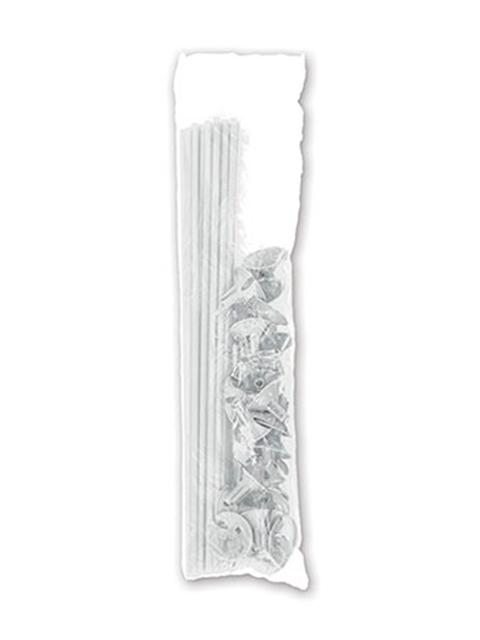 Комплект Палочка+Розетка 25 штук, белые