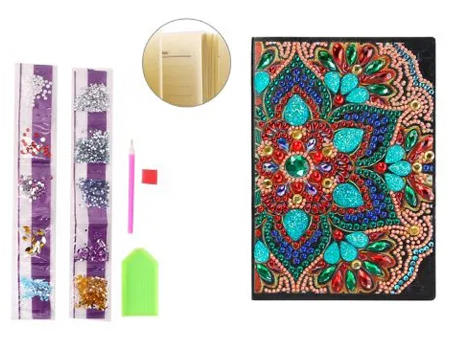 Блокнот А5 56 листов Mazari с орнаментом для выкладки стразами