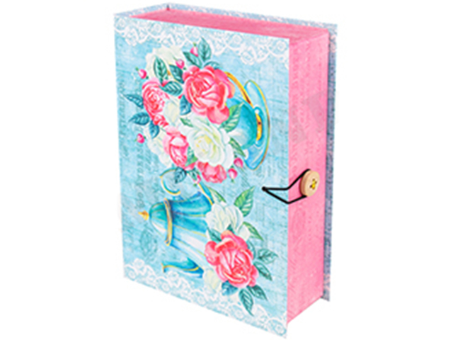 "Коробка-книга подарочная MILAND ""Цветы"" 13,5х20х6 см"