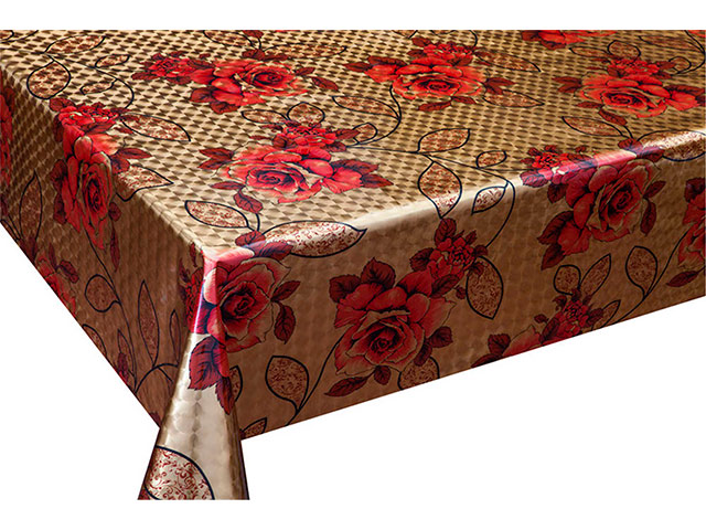 Клеенка столовая GRACE ткань с ПВХ покрытием 1,4м 3D6001-1 (цена за метр) (рулон 20м)