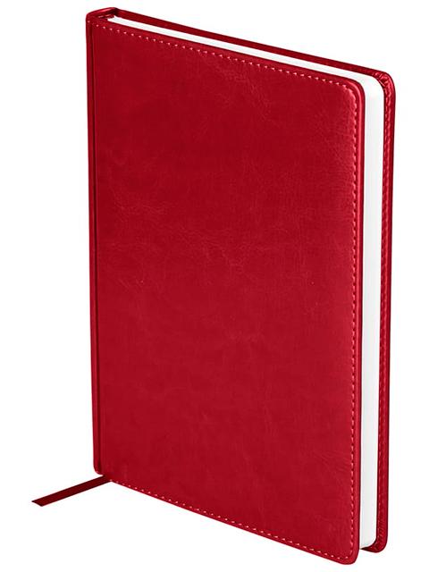 """Ежедневник недатированный А5 136 листов OfficeSpace """"Nebraska"""" обложка кожзам, бордовый"""