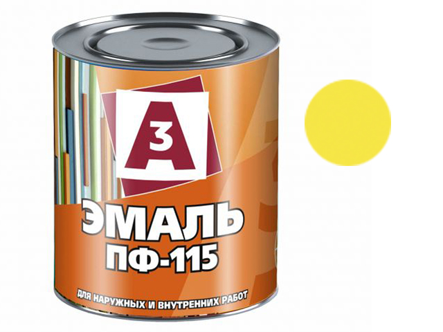 "Эмаль ПФ-115 ""А3"" 0,9кг, жёлтый"