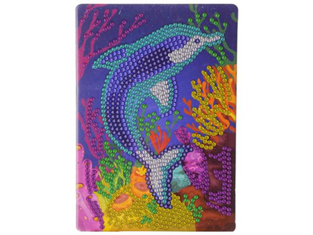 """Алмазная мозаика """"Дельфин"""" 10х15 см, с мольбертом"""