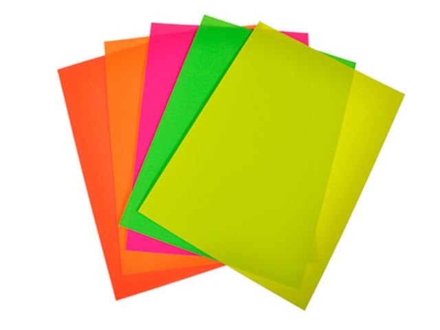 Картон цветной А4 5 цветов 5 листов ClipStudio неоновый, в пакете