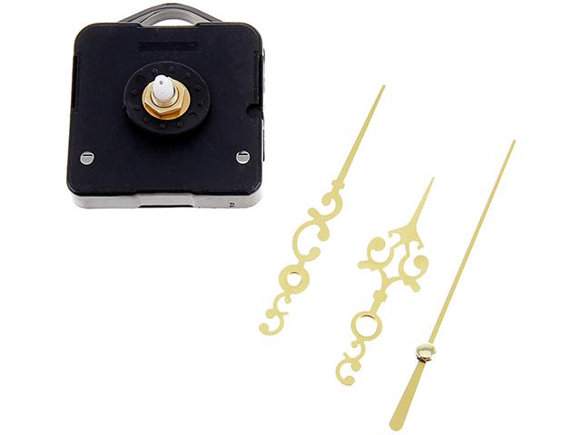 Часовой механизм с подвесом + комплект витых золотых стрелок