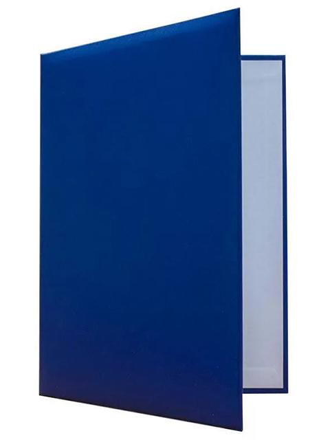 Папка адресная А4, без тиснения, бумвинил, синяя