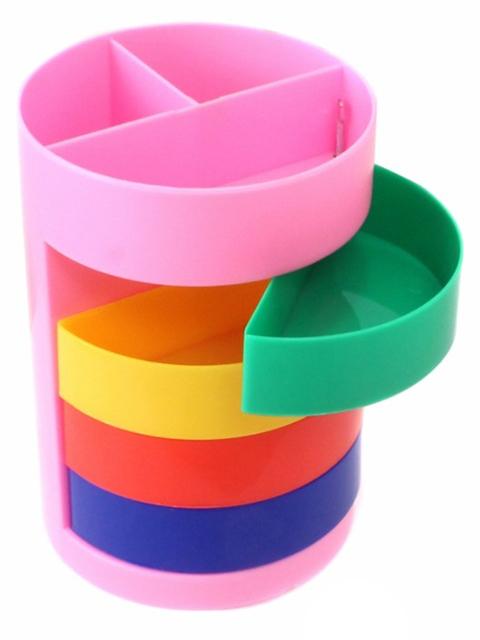 Подставка-органайзер Mazari RAINBOW для канц. принадлежностей, 7 отделений, разноцветный
