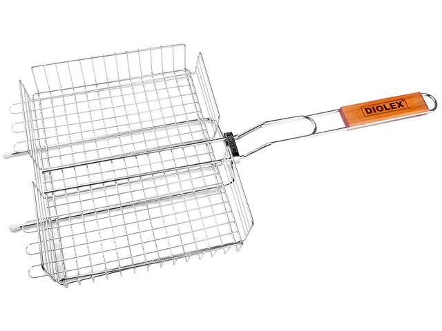 """Решетка-гриль """"Diolex"""" глубокая, сталь с хромированным покрытием, 31х24х5см"""