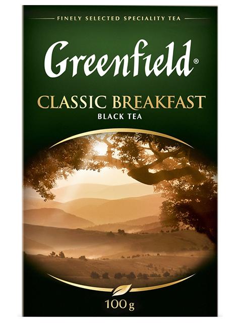 Чай Greenfield черный листовой 100 гр CLASSIC BREAKFAST