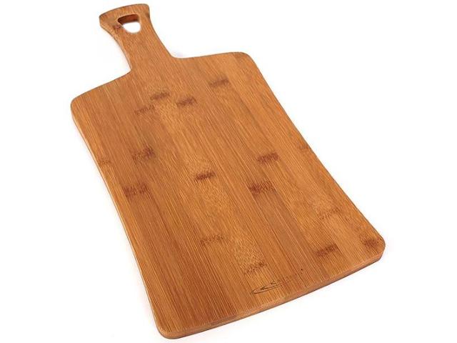 "Доска разделочная ""Катунь"" бамбук, прямоугольная с ручкой 40х20х1,2см №2"