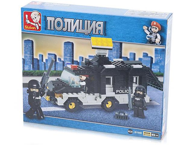"""Конструктор SLUBAN """"Военная полиция. Транспортное средство команды"""" 206 деталей"""