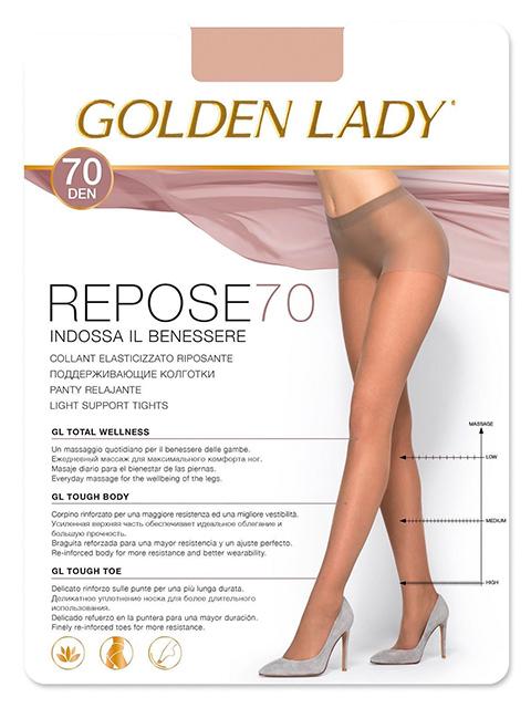 """Колготки женские Golden Lady """"Repose 70"""" Melon 5-XL"""