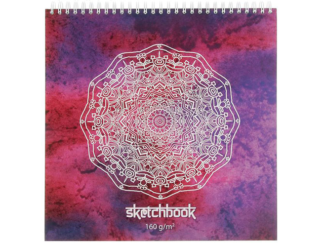 "Блокнот А4 60 листов Полином ""Sketchbook"" 250х250мм., 160г/м2, на гребне"