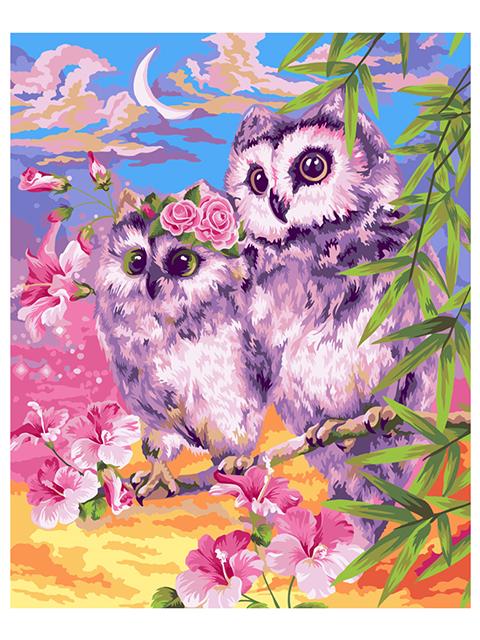 """Картина по номерам Greenwich Line """"Нежные совы"""" 40*50 см"""
