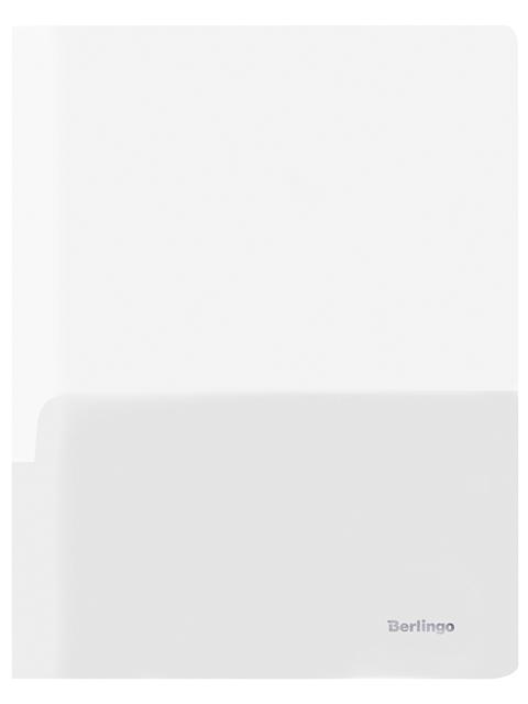 Папка-уголок А4 Berlingo 180 мкм с 2-мя внутренними карманами, прозрачная бесцветная