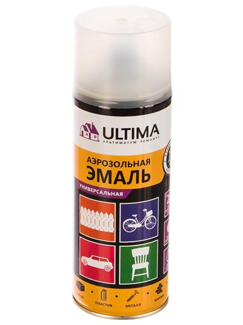 """Эмаль универсальная""""ULTIMA"""" лак матовый, 520мл., аэрозоль"""