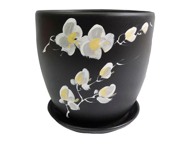 """Горшок для цветов """"Орхидея"""" №3 d-15 Высокий овал, керамика"""