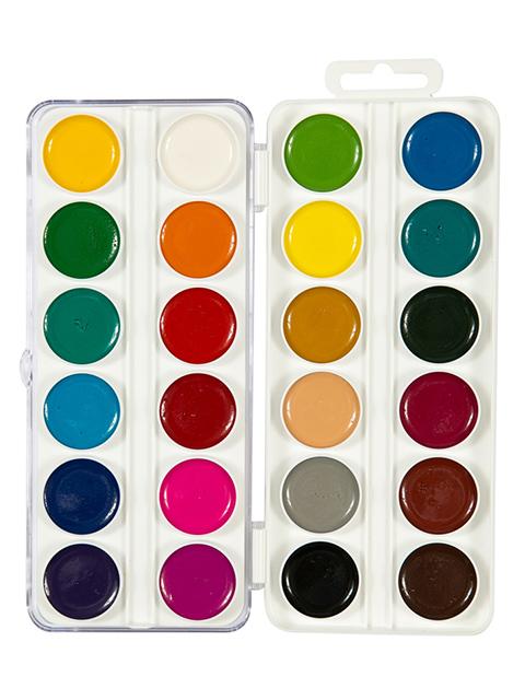 """Краски акварельные Гамма """"Мультики"""" 24 цвета, медовые, без кисти, пласт. упак."""