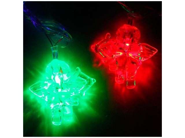 """Гирлянда электрическая 20 ламп """"Ангел"""" 5 м, мультицвет, авторежим, 220В"""