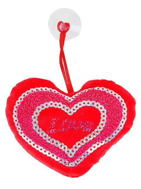 """Мягкая игрушка """"Сердце"""" на присоске"""