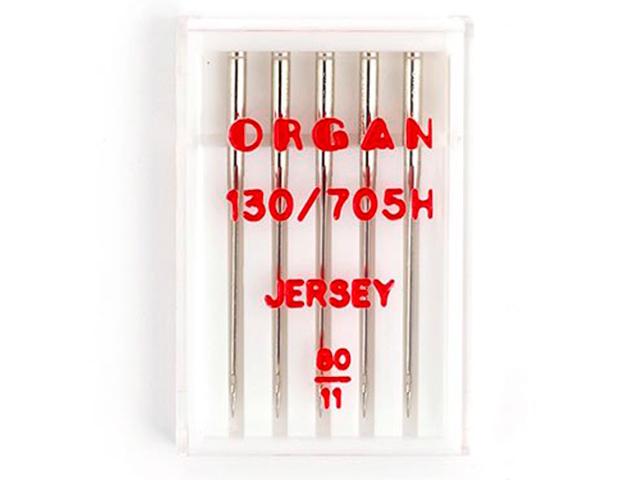 Иглы швейные Organ Needles для бытовых швейных машин №80 (5 штук в упаковке)