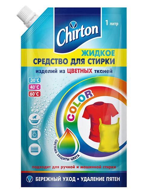 """Chirton СМС """"Жидкое средство для стирки цветных тканей Color"""" 1000мл, мягкая упаковка"""