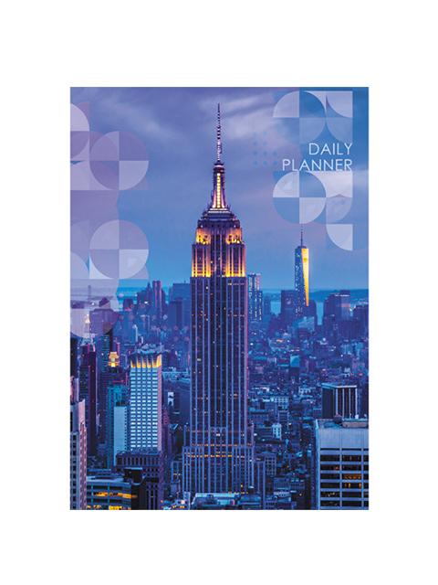 """Ежедневник недатированный А6 160 листов Unnika """"Городской стиль. Нью-Йорк"""" обл. 7БЦ, мат.ламин."""