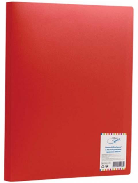 Папка OfficeSpace 40 вкладышей, 21 мм, 400 мкм, красная