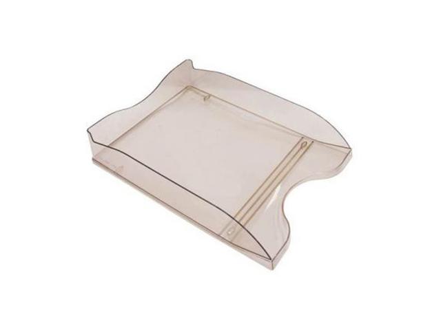 Лоток для бумаг СТАММ Люкс, горизонтальный, тонированный коричневый