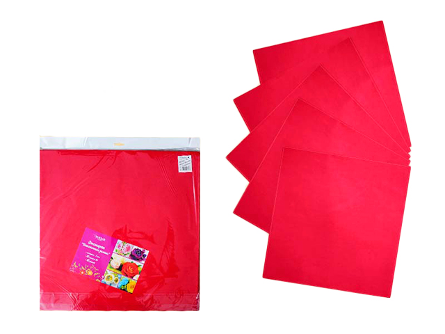 Фоамиран Schreiber пластичная замша, 50*50 см, 1мм, красный, 10 листов