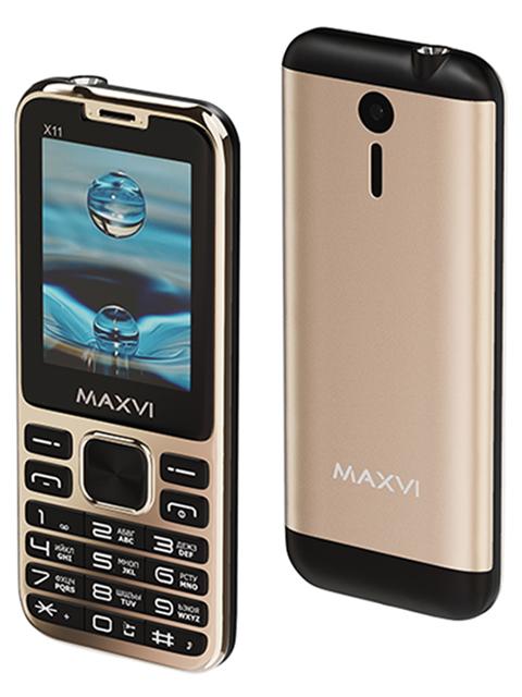 Мобильный телефон Maxvi Х11 Metallic gold