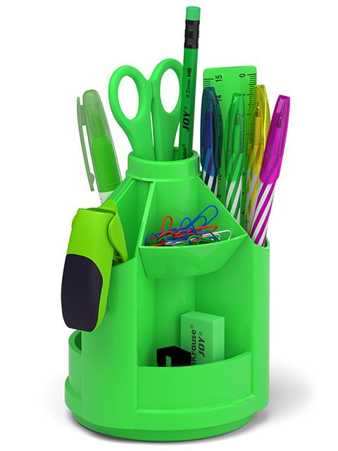 """Набор настольный Erich Krause """"Mini Desk. Neon Solid"""", 13 предметов, зеленый"""