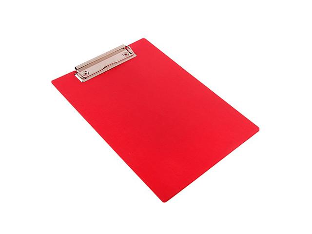 Планшет с зажимом А4 Канцбург, бумвинил, красный
