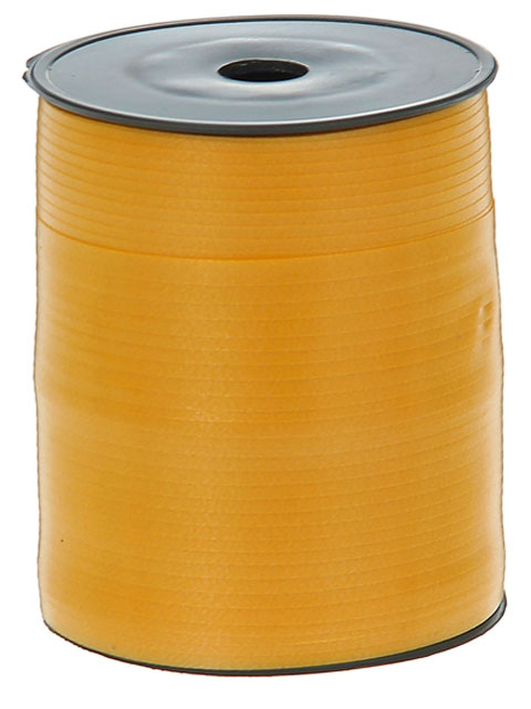 Лента декоративная 0,5см.х500м. желтая