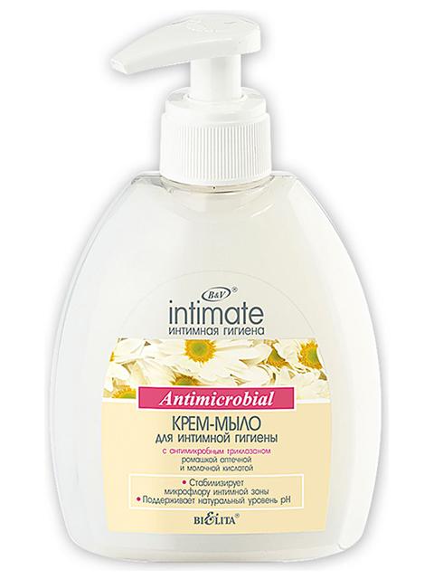 """Крем-мыло для интимной гигиены Bielita """"INTIMATE. Antimicrobial"""" 300мл"""