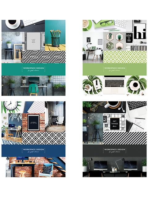 """Тетрадь А5 48 листов линия ArTSpace """"Офис. Workspace design"""" на скрепке"""