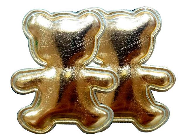 """Декоративное украшение для творчества """"Золотые мишки"""" 5,7х0,2х4,7см, 2 штуки в наборе"""