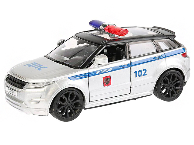 """Игрушка """"Технопарк. Машина RANGE ROVER EVOQUE Полиция"""" металл, инерционная, открывающиеся двери"""