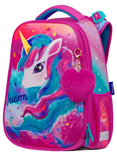 """Ранец школьный Berlingo """"Expert. Bright Unicorn"""" 37х28х16 см, анатомическая спинка"""