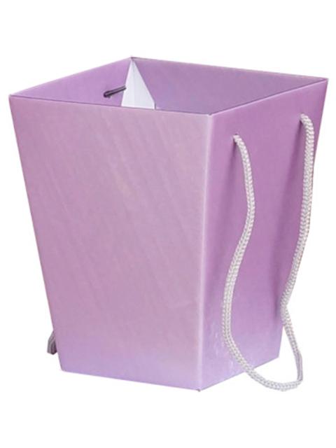 """Коробка для цветов Яркий Мир """"Премиум"""" 125х180х225 мм, сиреневая"""