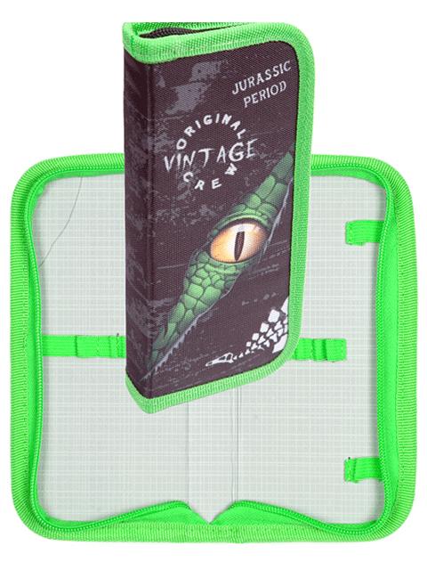 """Пенал 1 отделение deVENTE """"Jurassic Period"""" 205х90 мм, текстильный, на молнии"""