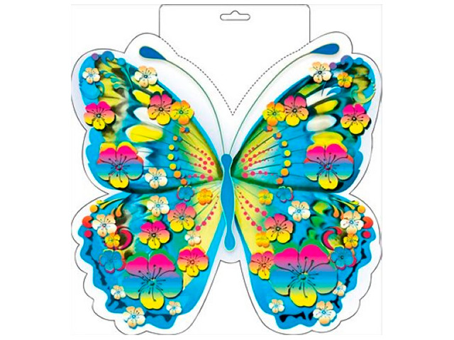 "Плакат вырубной ""Бабочка"" голубая"