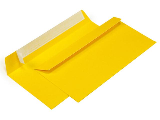 Конверт 114*229 мм силикон, желтый