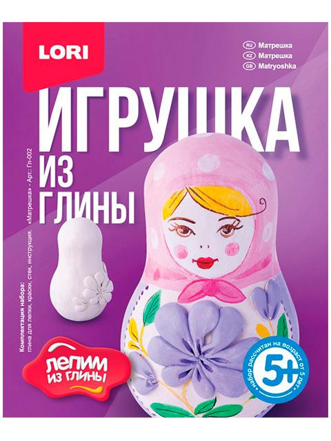 """Набор для детского творчества """"Игрушки из глины. Матрешка"""""""
