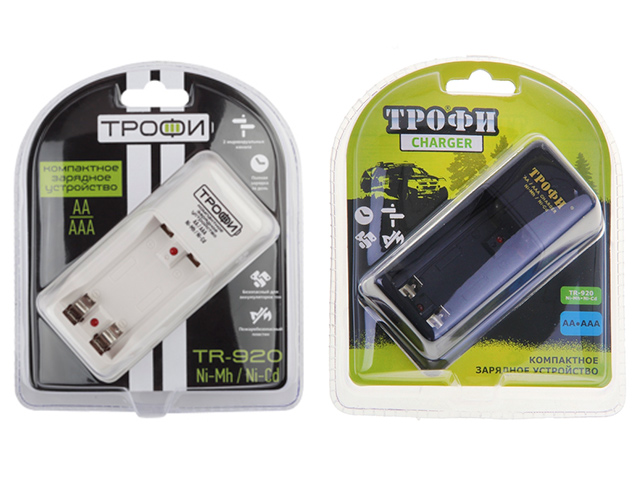 Зарядное устройство Трофи TR-920 ААА, АА компактное