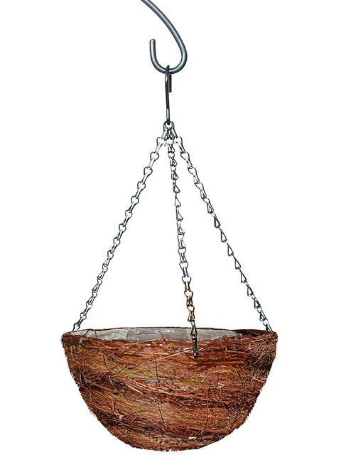 """Кашпо плетеное """"Сфера 2"""" из ротанга, круглое, d=30см"""
