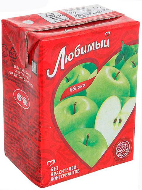 """Нектар """"Любимый"""" 0,2 яблоко"""
