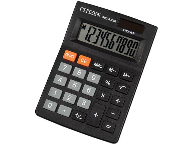 Калькулятор настольный CITIZEN SDC-022SR 10 разр. двойное питание