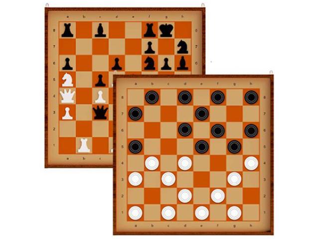 """Игра настольная """"Шахматы и шашки"""" демонстрационные, магнитные, в коробке"""