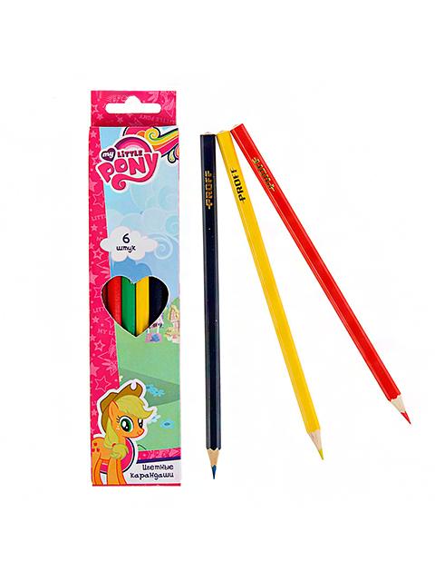 """Карандаши цветные PROFF """"My little pony"""" 6 цветов, карт. упак."""